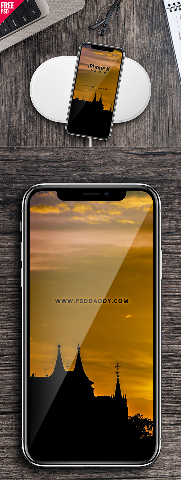 Free Download iPhone X PSD Mockups and Sketch - 12