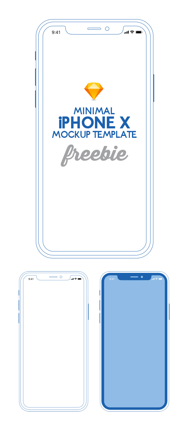 Free Download iPhone X PSD Mockups and Sketch - 23