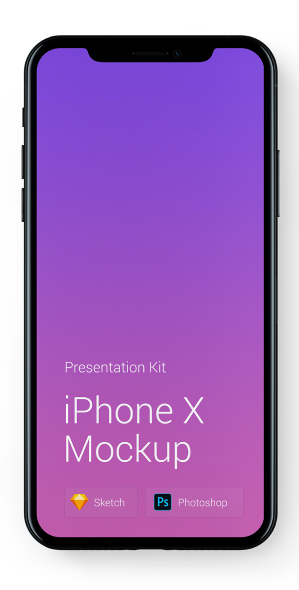 Free Download iPhone X PSD Mockups and Sketch - 24