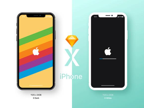 iPhone X: Early free mockups