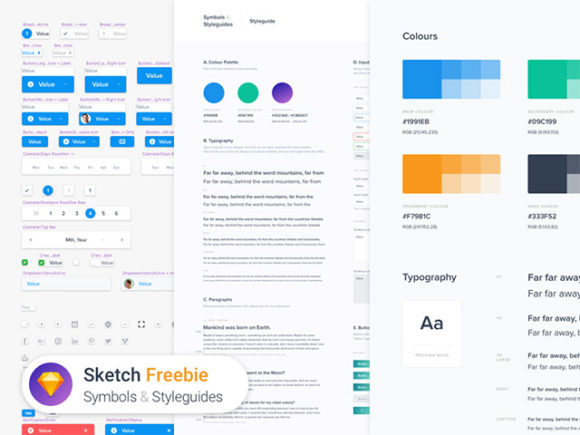 Symbols & Styleguides: A template for Sketch