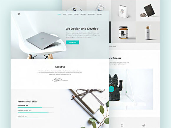 Piroll: A design template for agency/personal portfolio