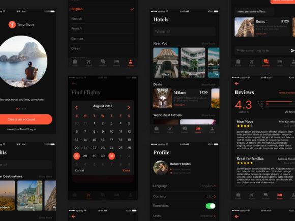 Travelisto: Free UI kit for travel apps