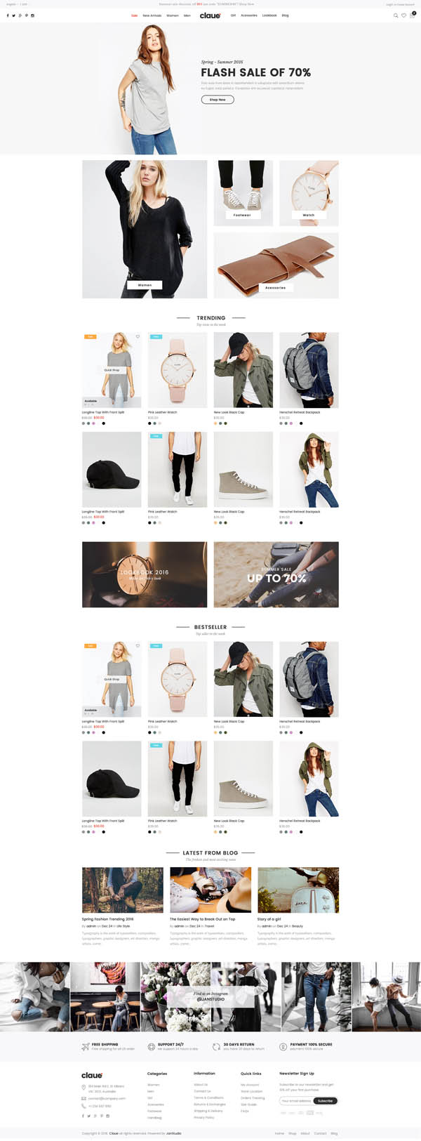 Claue : Clean, Minimal WooCommerce Theme