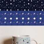 Free Download: Moon & Stars Seamless Patterns