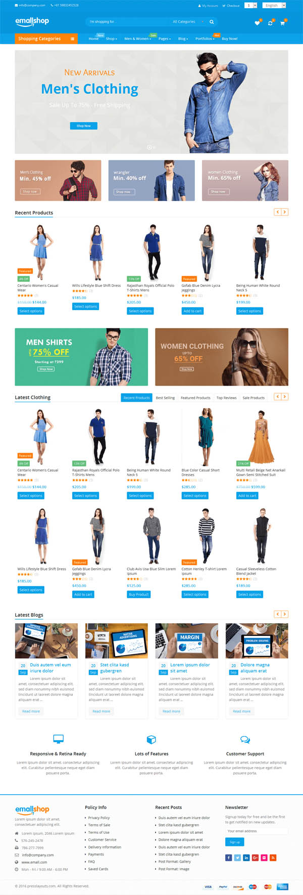 EmallShop – Responsive Multipurpose WooCommerce Theme