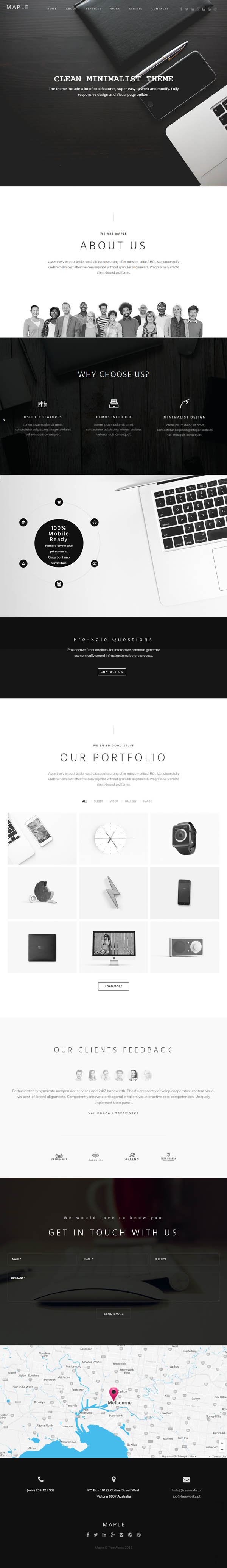 Maple - Responsive Clean Multi-Purpose WordPress Theme