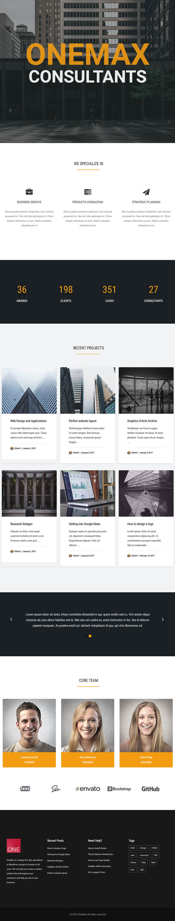 OneMax : Responsive Multi-Purpose WordPress Theme