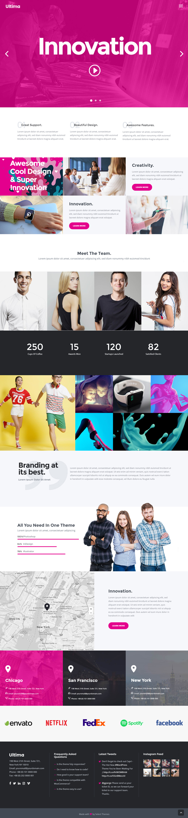Ultima - A Multi-Purpose WordPress Theme