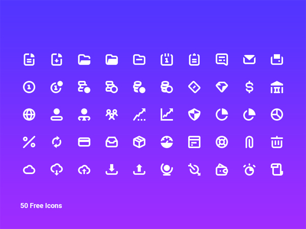 Free Business Icon Vector Pack - 50 Icons