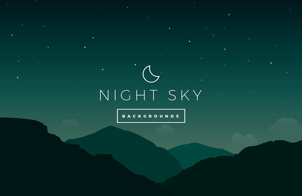 Night Sky Vector Backgrounds