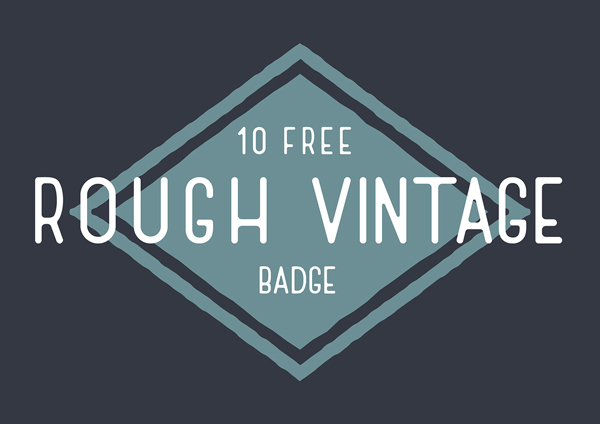 Free Rough Vintage Badge Vector