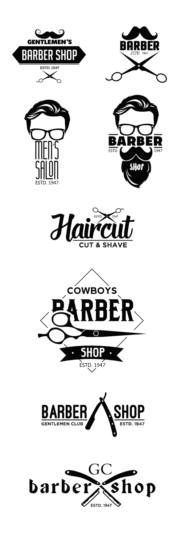 Free Vintage Barber Shop Logo Templates