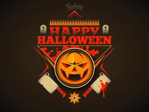 Free Scary Halloween Illustration Vector