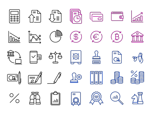 Beautiful Free Finance/Accounting 36 Icons
