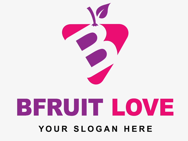 bFruit - Create Fruit Business Vector Logo