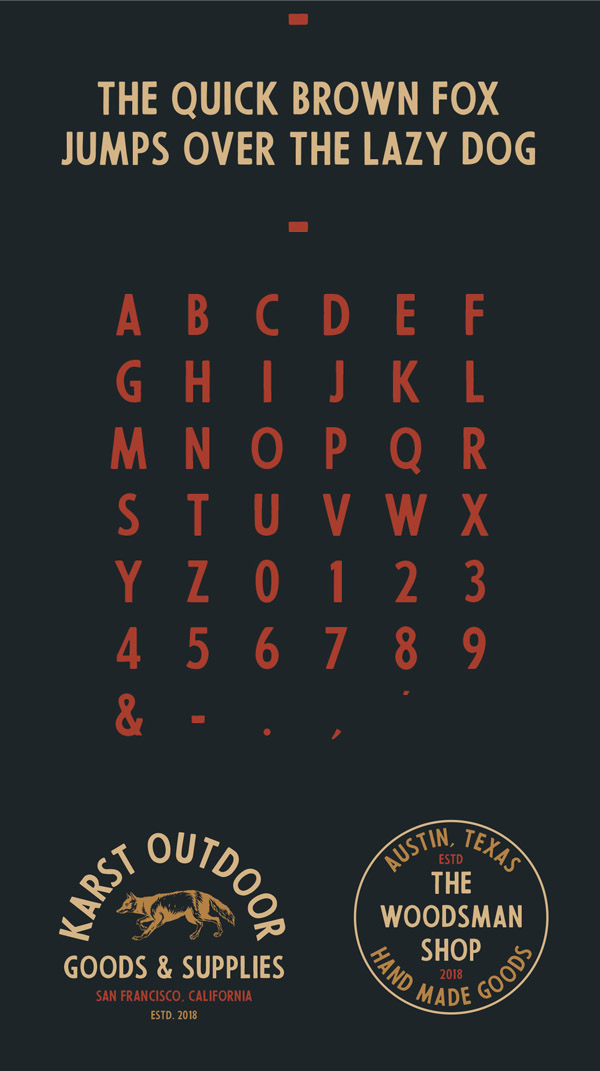 56th Street Free Font Letters