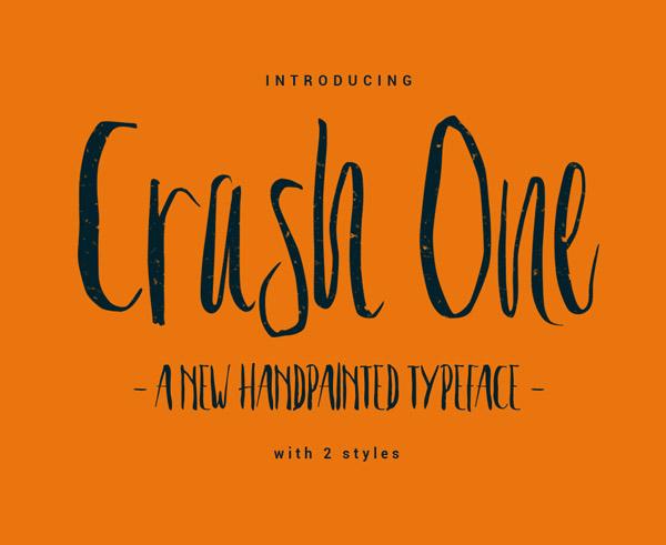 Crash One Free Font