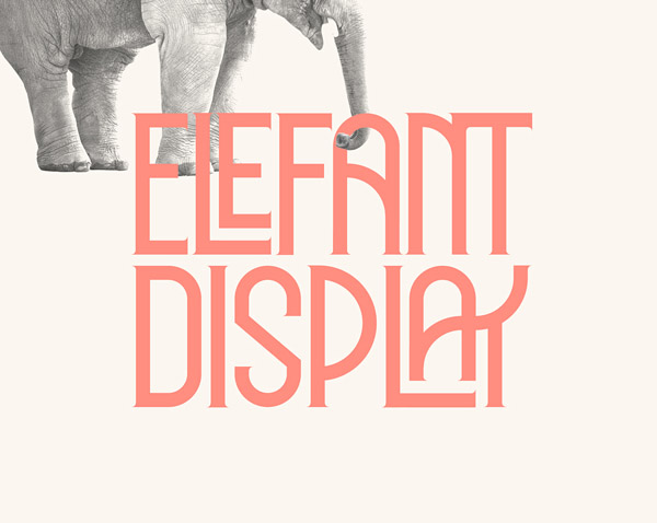 Elephant Display Free Font