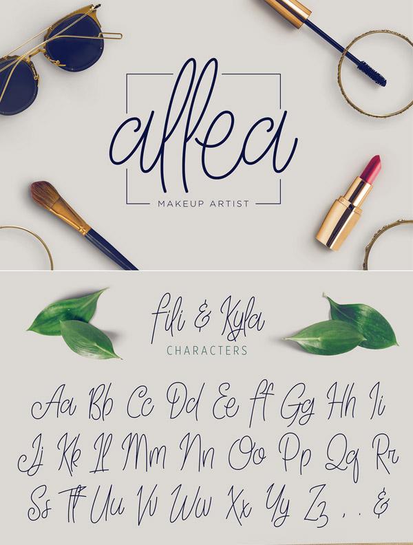Fili & Kyla Free Font Letters