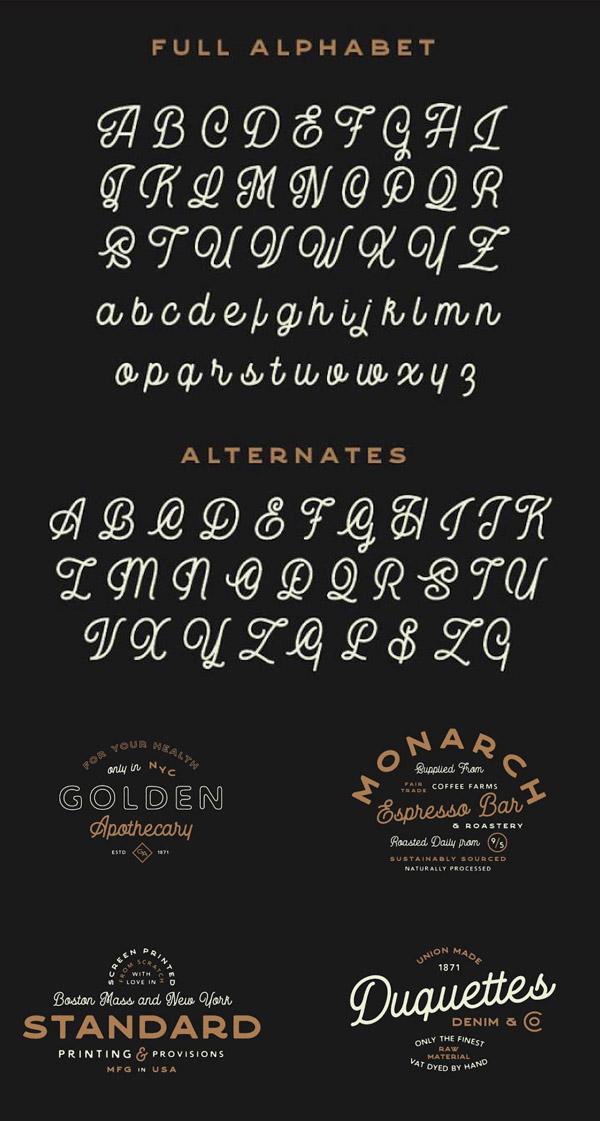 Garment District Free Font Letters