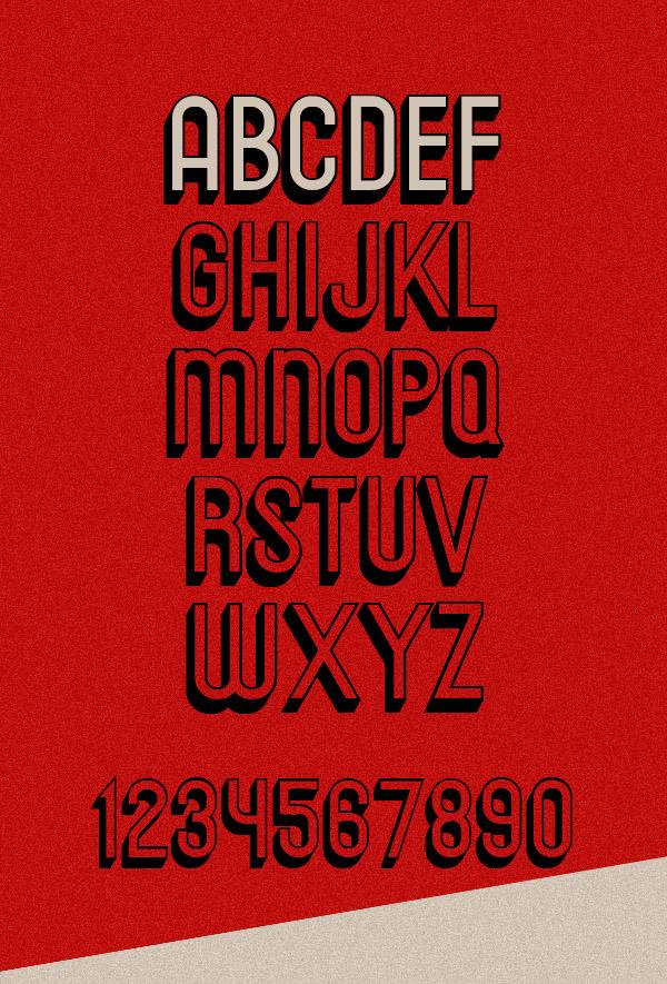 Messages Free Font Letters