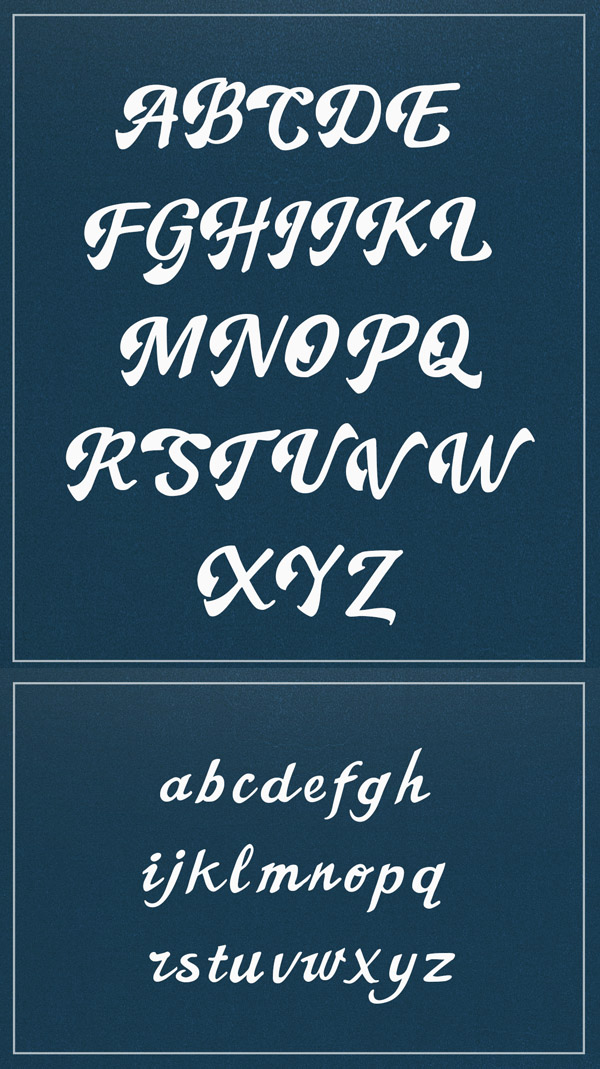 The Booster Free Font Letters