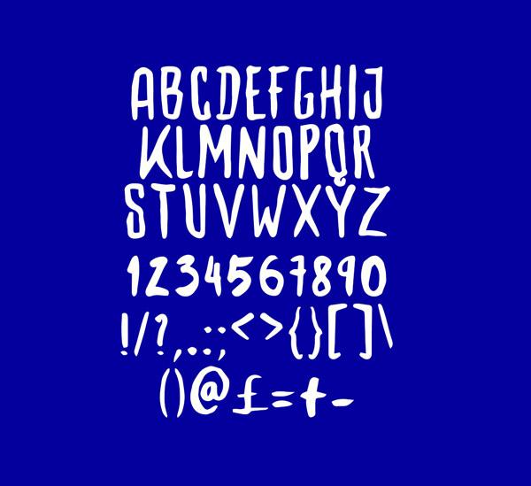 Woodbone Free Font Letters