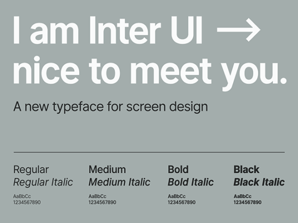 Inter UI: A free font for highly legible text