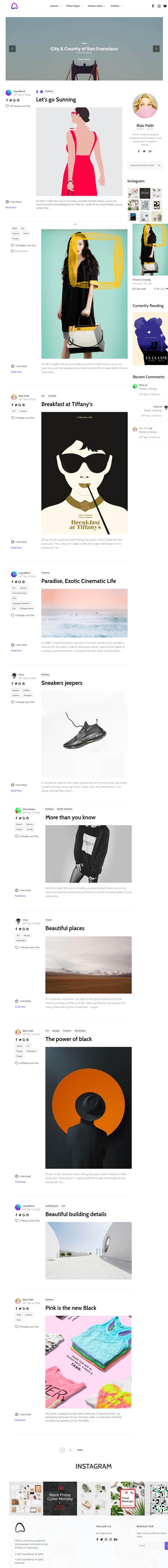 Alimo - Clean Responsive WordPress Blog Theme