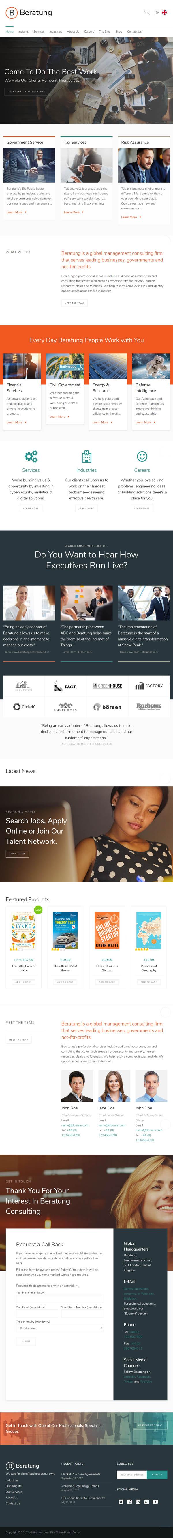 Beratung - Multi-Purpose Business & Consulting WordPress Theme
