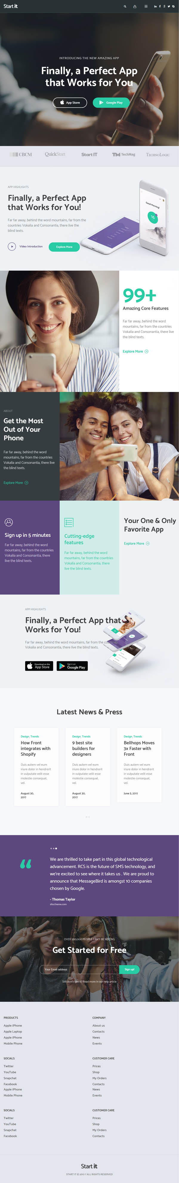 Start It - Technology & Startup WP Theme