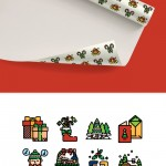 50 New Free Christmas Icons (Flat, Line, Linecolor)