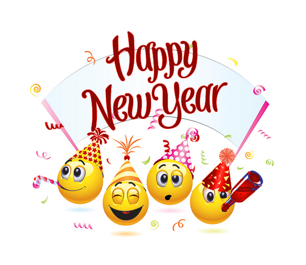 Emoji Happy New Year 2018