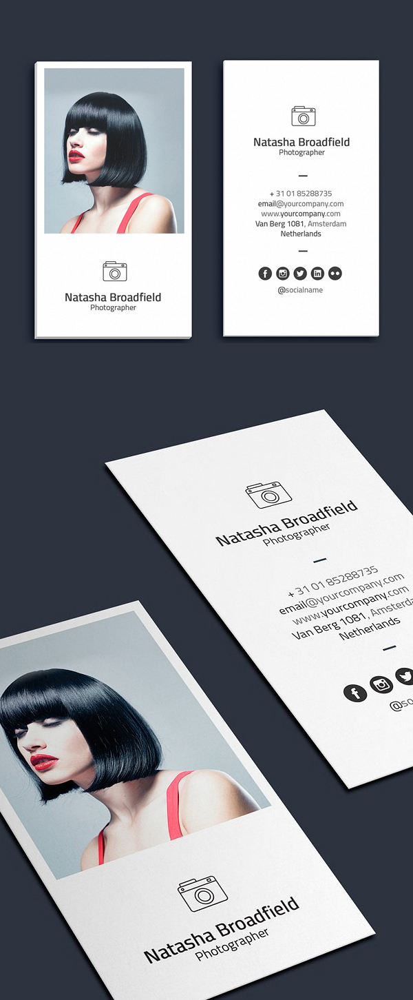 Minimalist Photographer Business Card
