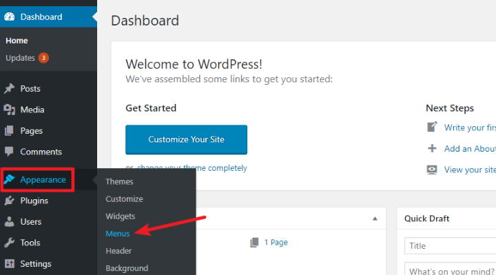 how to add a navigation menu to wordpress
