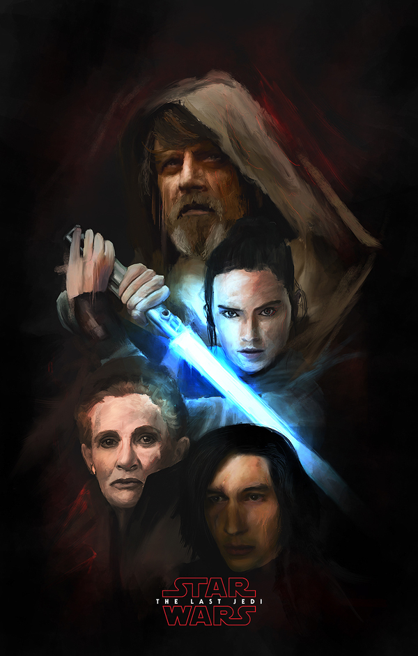 Amazing Illustration of Star Wars: The Last Jedi 8