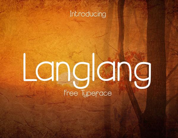 Langlang Free Font