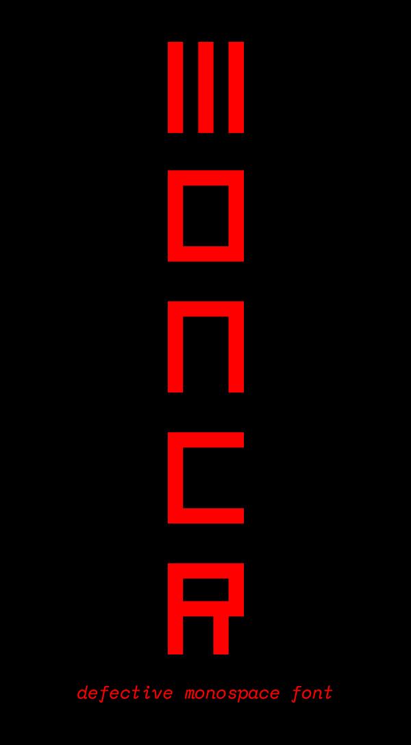 Moncr Free Font