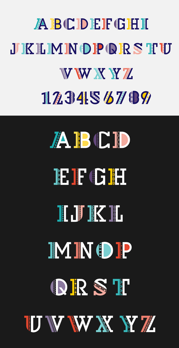 Naive color Font Free Download
