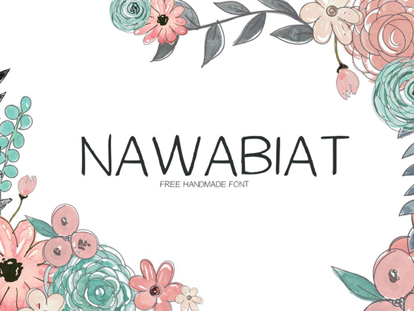 Nawabiat Handwriting Free Font