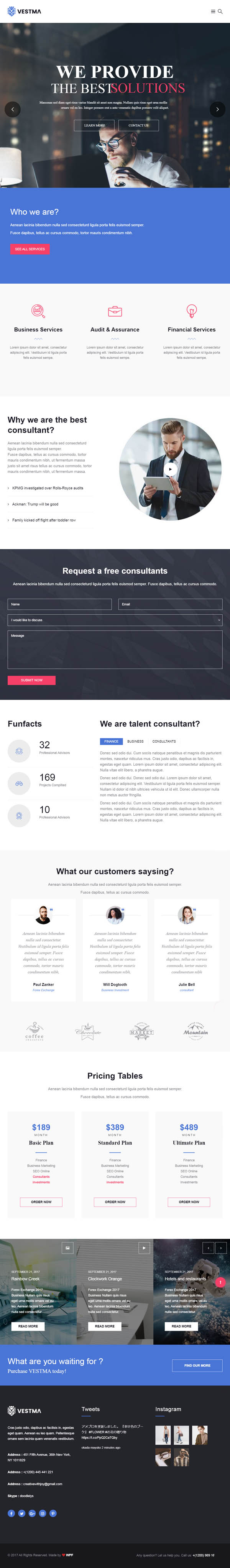 VestMa – Business, Consulting, Corporate WordPress Theme