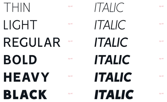 Vision font specimen 02