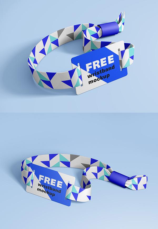 Free RFID Wristband Mockup Templates
