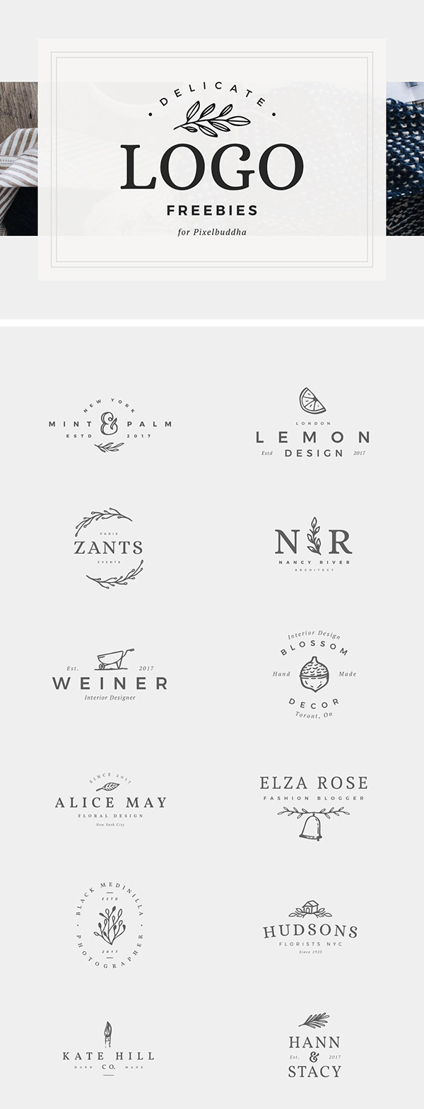Free Delicate Feminine Logos PSD