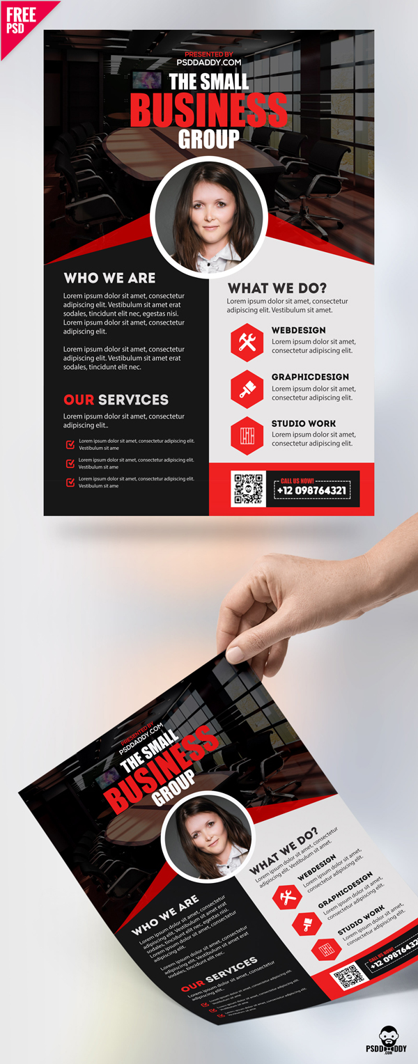 Free Professional Business Flyer PSD Template