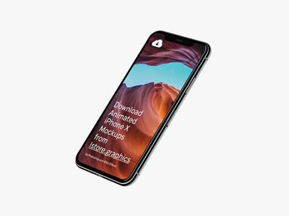 iPhone X mockups at 4k resolution