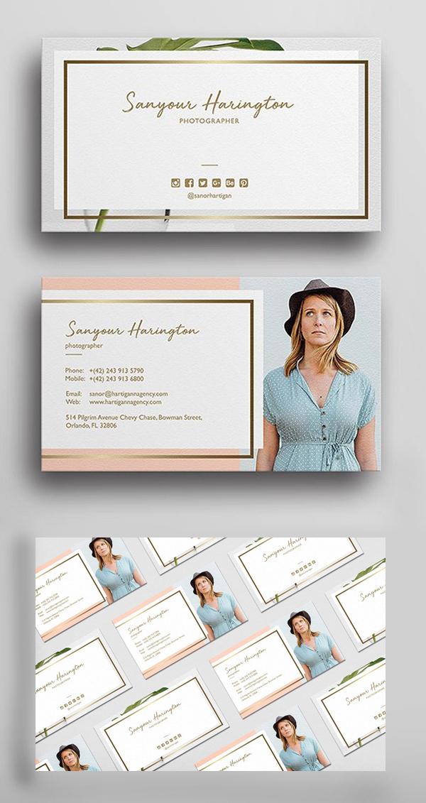 Stylish Photography Business Card