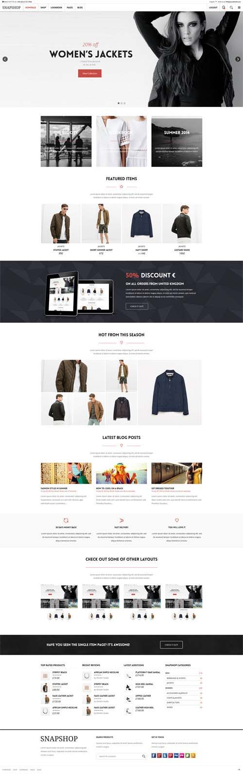 Snapshop – Responsive WooCommerce WordPress Theme