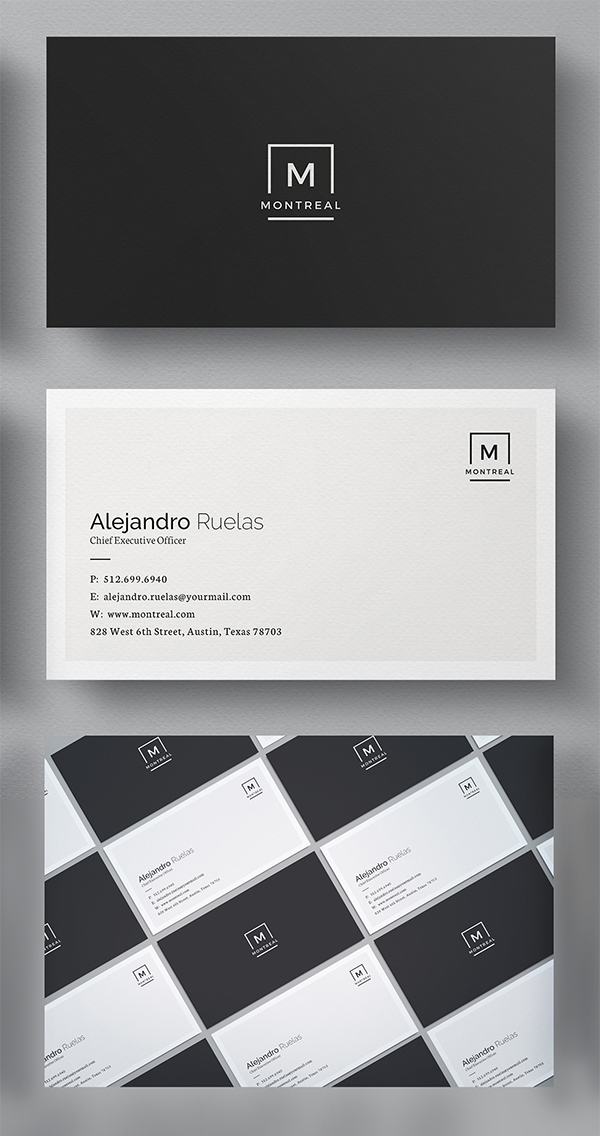 25 elegant business cards psd templates idevie clean business card template colourmoves